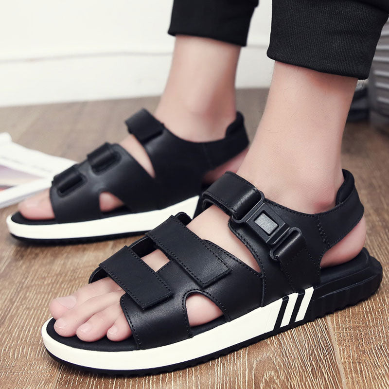 Men's New Leather Open Toe Classic Soft Sandals