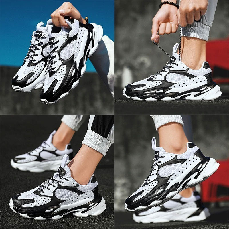Men's Breathable Athletic High Quality Trainers Running Lace-up Sneakers