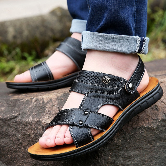 Summer Men's Hollow Outdoor Beach Casual Sandals Shoes
