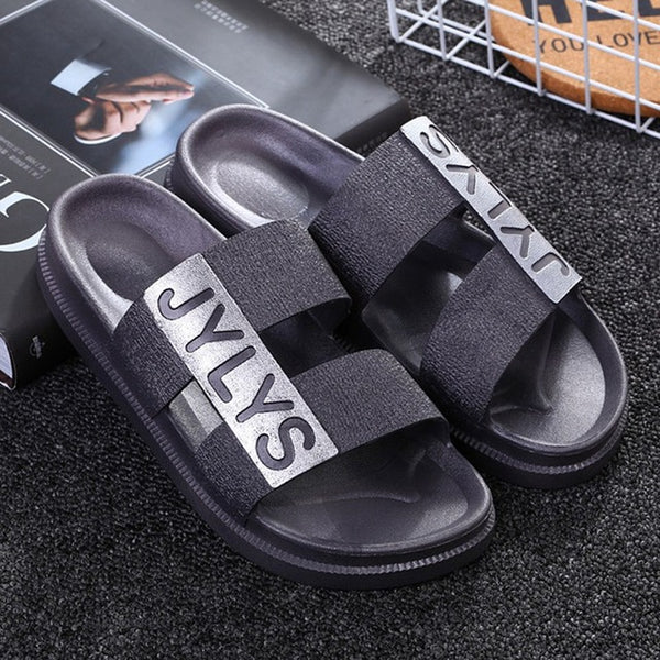 Fashion Beach Slippers Lovers Outdoor Anti-Slip Slippers