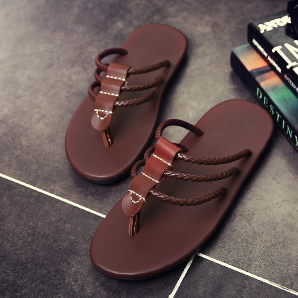 Summer Male Casual Beach Peep-toe Slipper