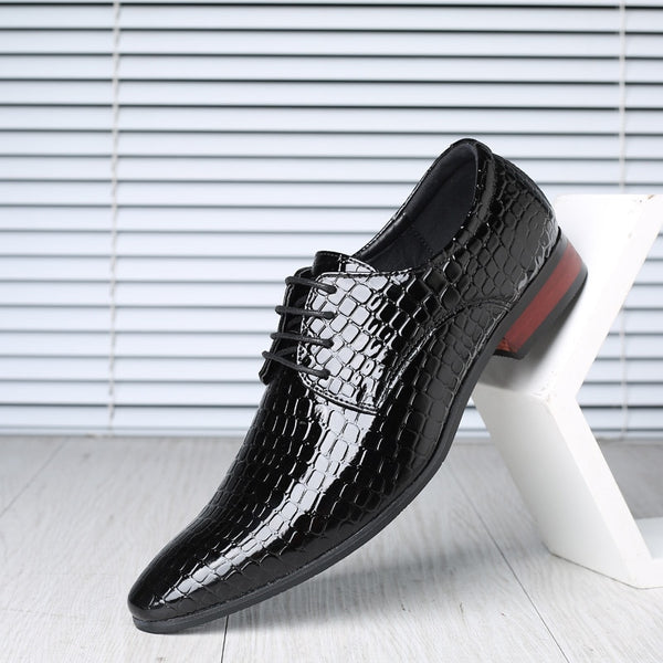 Hot 2019 Big Size British Men's Lace-Up Pointed-Toe Dress Shoes Office Flats