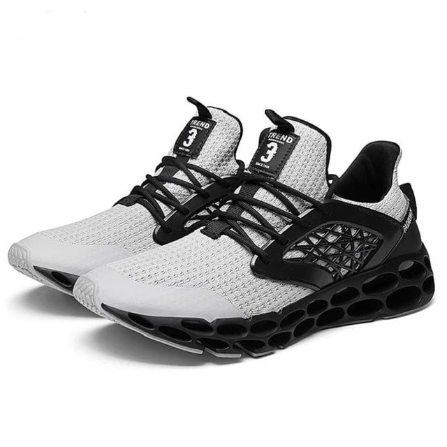 Fly weave flat shock absorption jogging soft breathable sneakers