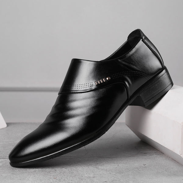New business men Oxfords shoes Office Wedding pointed leather shoes