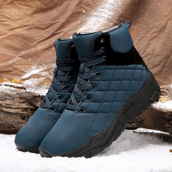 Winter casual Light weight solid color high to help waterproof warm cotton shoes