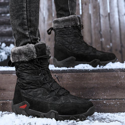 Winter Waterproof Fur Plush Warm Comfortable Snow Boots