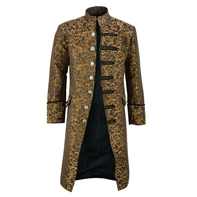 Winter Autumn Fashion Vintage Tailcoat Long Gothic Frock Uniform Coat (Important Note:Please choose the size according to the size table)