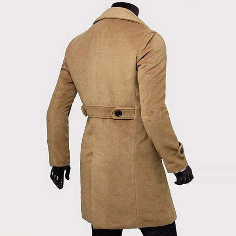 2019 New Long Trench Coat Quality Double Breasted Outerwear