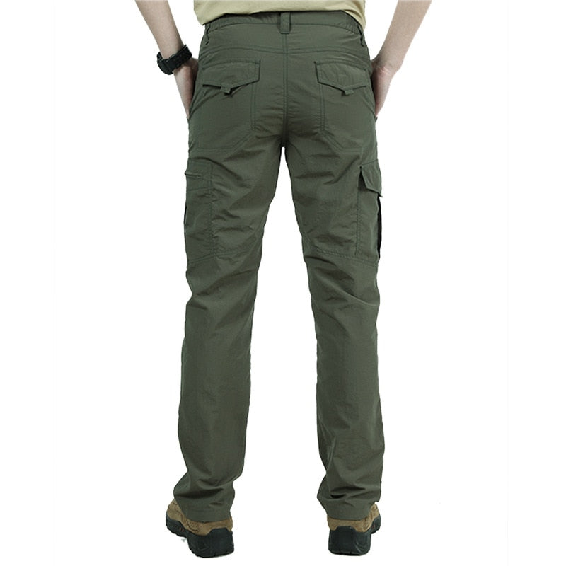 Quality Men's Quick-dry Pants Army Military Style Trousers Tactical Cargo Waterproof  Pants