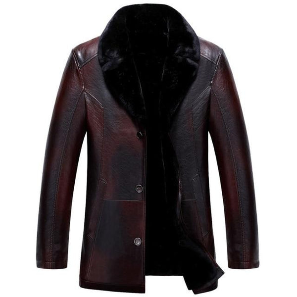 Winter Thick Warm Casual Mens Leather Jackets Coats  (Important Note:Please choose the size according to the size table)
