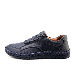 Fashion Genuine Leather Lace-Up Thick Sole Men's Casual Shoes Loafers