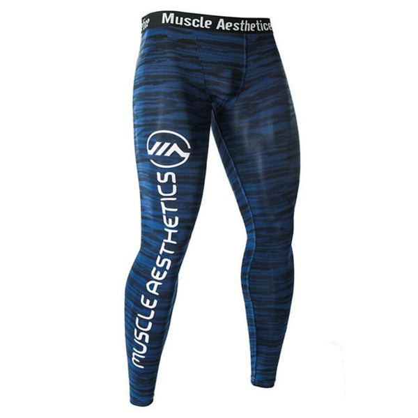 Men's Gym Tight Fitness Leggings Quick Dry Trousers Compression Yoga Pants
