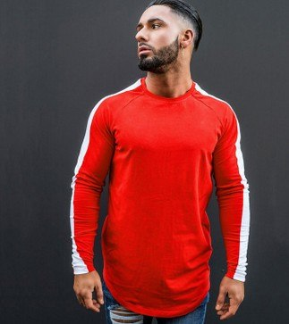 Quality Men's Shirts Long Sleeve Crew Neck T-shirts Casual Fitness Jogger Tops