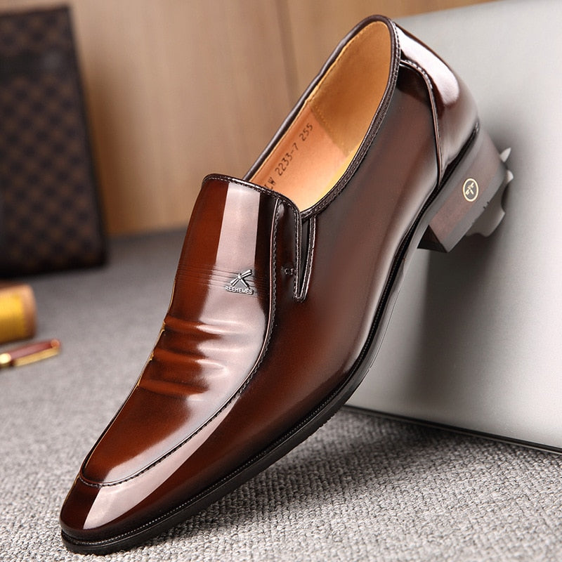 Men's shoes British business suit Genuine Leather  wedding dress shoes
