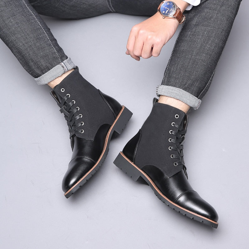 Quality Men's Handmade Leather Chelsea Boots Ankle Boot Dress Shoes