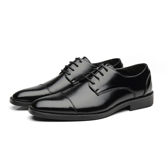 2019 New High Quality Men's Leather Shoes Oxford Dress Shoe
