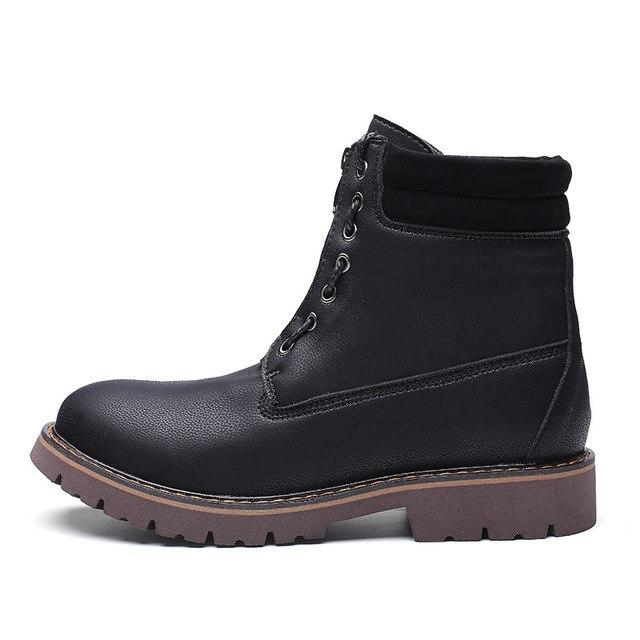Vintage Winter Casual Lace-up Leather Men Snow Boots