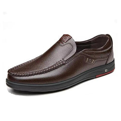 Classic Breathable Genuine Leather Business Men Flats Casual Shoes