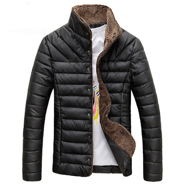 2019 Men's Jacket Single Breasted Solid Coats All-match Outerwear