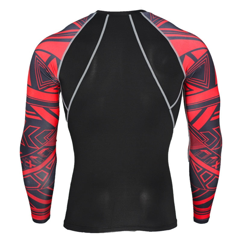 2019 New Men's Running Sport Suits Compression t-shirt Leggings Tracksuit Sets Gym Tees