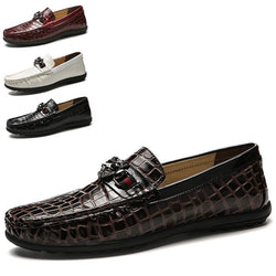 Fashion Genuine Leather Soft Moccasins Men Loafers Shoes
