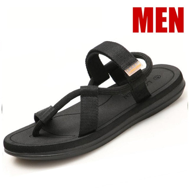 Sandals Men's Summer Sandalias Roman Beach Shoes Flip-Flops Slip on Flats Slides