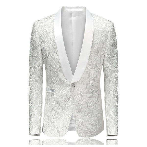 Fashion  Men's Blazer Suit Jacket Slim Fit Wedding Prom Blazers
