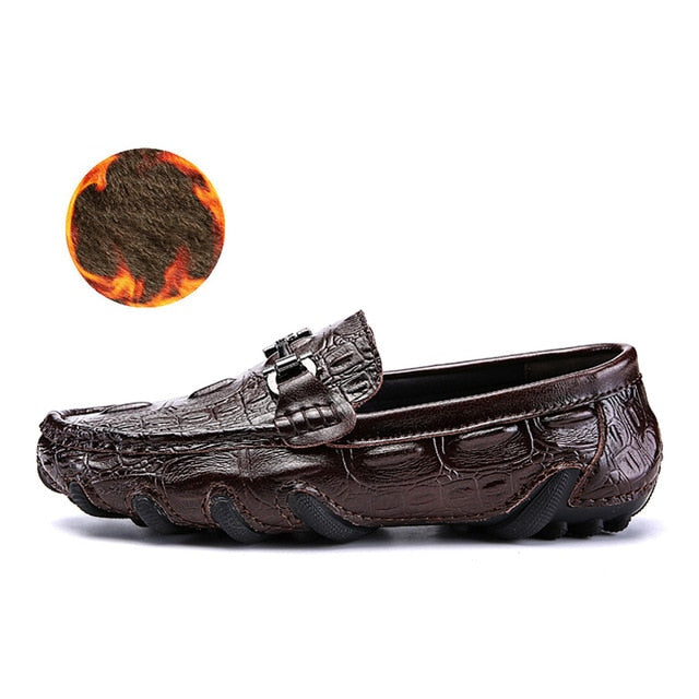 Luxury Men's Genuine Leather Loafers Moccasins Slip-On Driving Shoes