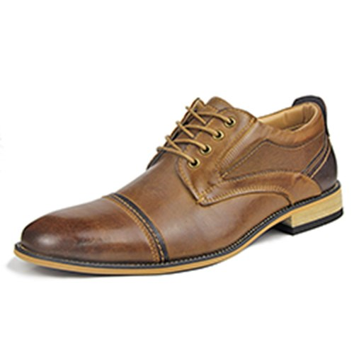 2019 New Luxury Men's Leather Oxford Shoes Lace up Brogue
