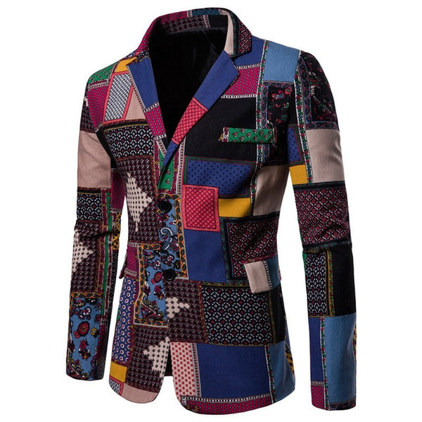 Luxury Men's Fashion Suit Blazers Casual Jacket Hip-hop Clothes