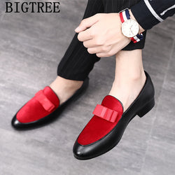 Men's Loafers Formal Wedding Dress Slip-on Shoes