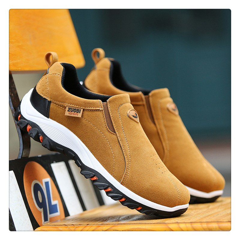 2019 New Top Quality Men's Loafer Suede Leather Slip-on Sport Shoes
