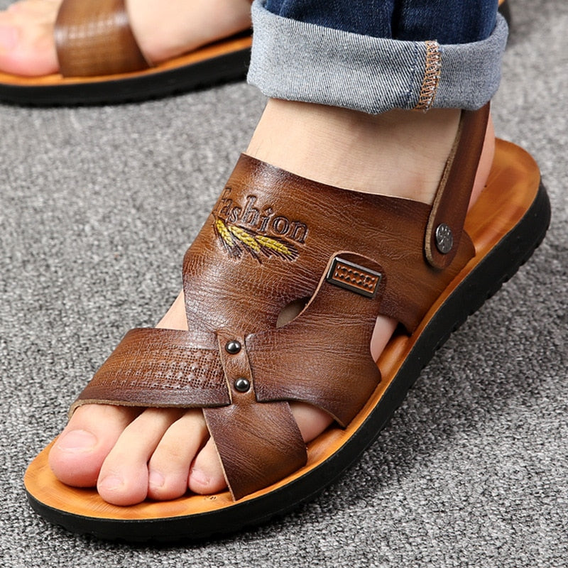 Summer new comfortable non-slip Dual use shoes for men sandals slippers