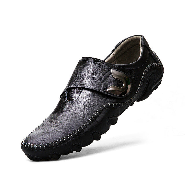 Quality Genuine Leather Loafers Men's Boat Shoes Moccasins Designer Slip-On Shoes