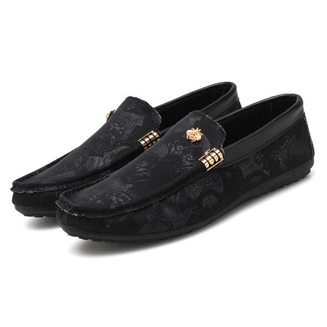 2019 Men's Casual Leather Shoes Loafers Slip On Driving Shoe Summer Breathable