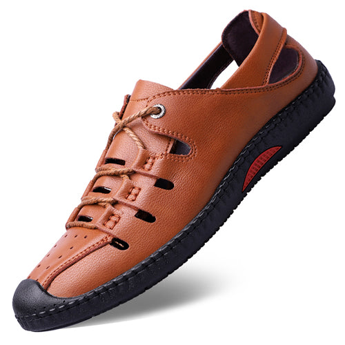 Top Quality Men's Summer Leather Sandals Beach Shoe Outdoor Casual Shoes