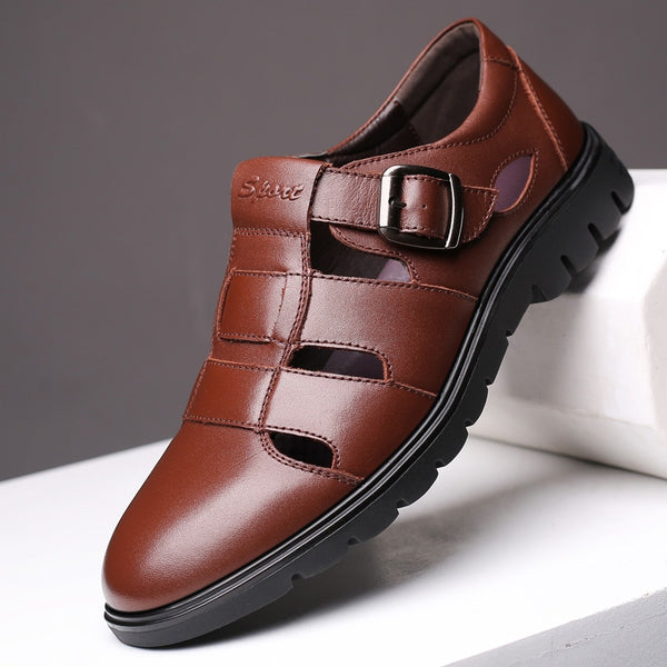 2019 New Men's Sandals Quality Leather Sandal Roman Shoes