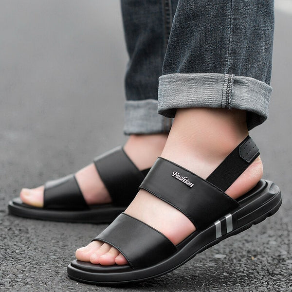 2019 Summer Men's Sandals Genuine Leather Beach Shoes