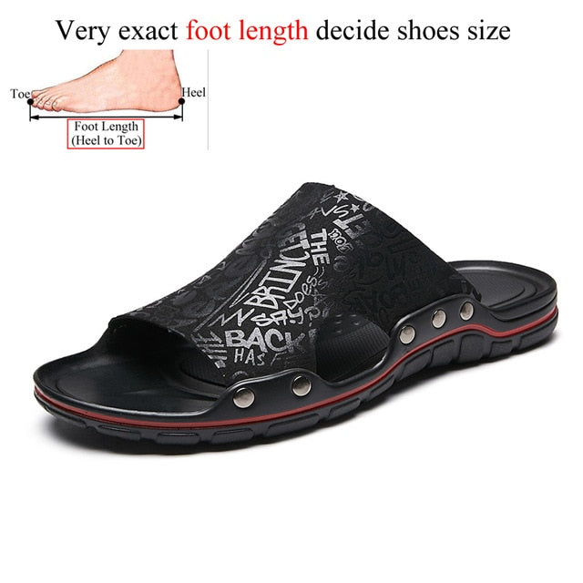 Men's Summer Sliper Sandals Sliders Super Beach Slip-on Slippers