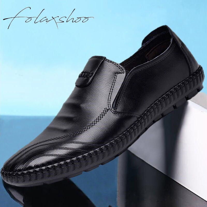 Men's Casual Breathable Driving Leather Loafers Moccasins  Shoes