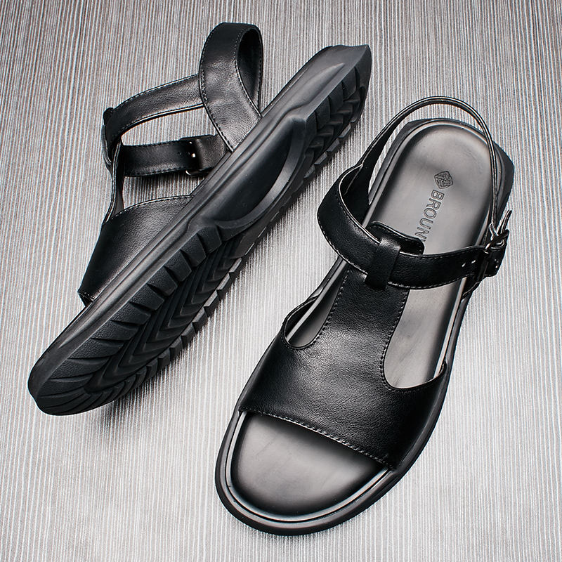 Men's Buckle Strap Sandals Summer Beach Shoes