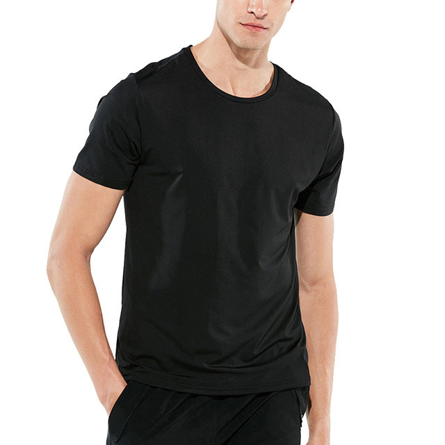 Men's Waterproof  Stainproof Breathable Quick Dry Sleeve T-Shirt