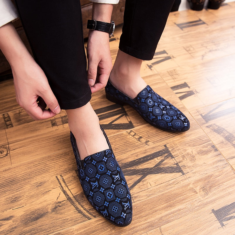 Men's High Quality Pu Leather Loafers Slip On Breathable Leather Shoes