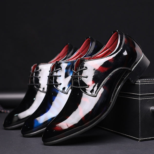 Men's Business Leather Luxury Floral Pattern  Formal Oxfords Plus Size Dress Shoes