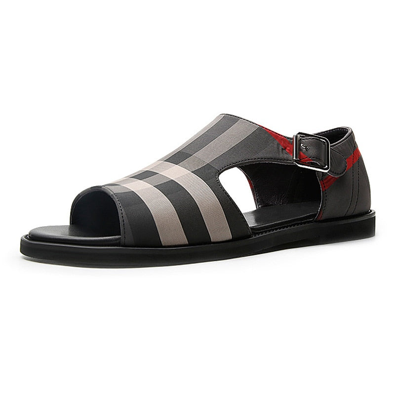 Men's Summer Gladiator Buckle Sandal Open-toe Flat Shoes