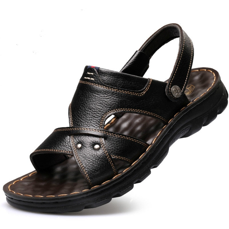 Summer Men's  Leather Sandal Slipper Shoes
