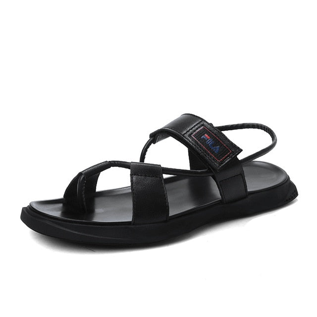 Men's Genuine Leather Beach Sandals Shoes Casual Non-Slip Slippers Sandals shoes