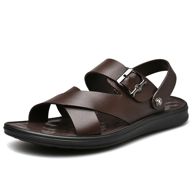 Men's  Genuine Leather Beach Casual Sandals Shoes