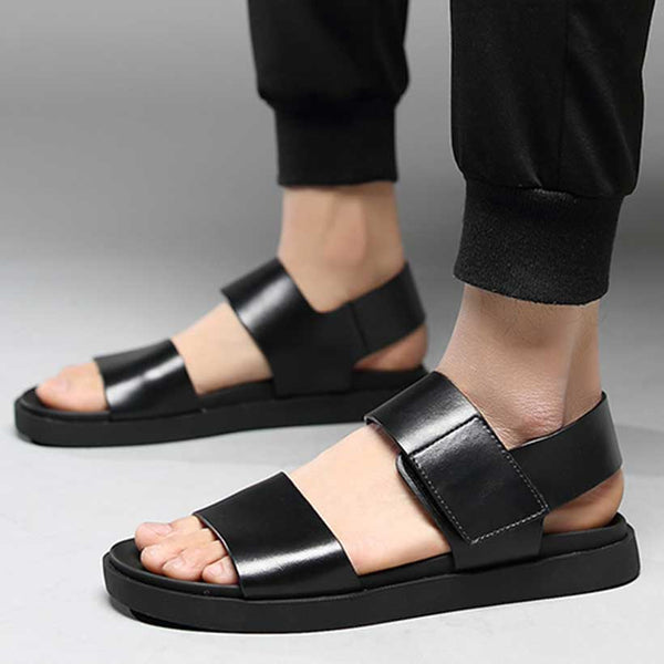 2019 New Men's Sandal Summer Top Layer Leather Shoes Non-slip Beach Shoe