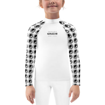 Renzo Gracie Kid's Rash Guard (Black on White)